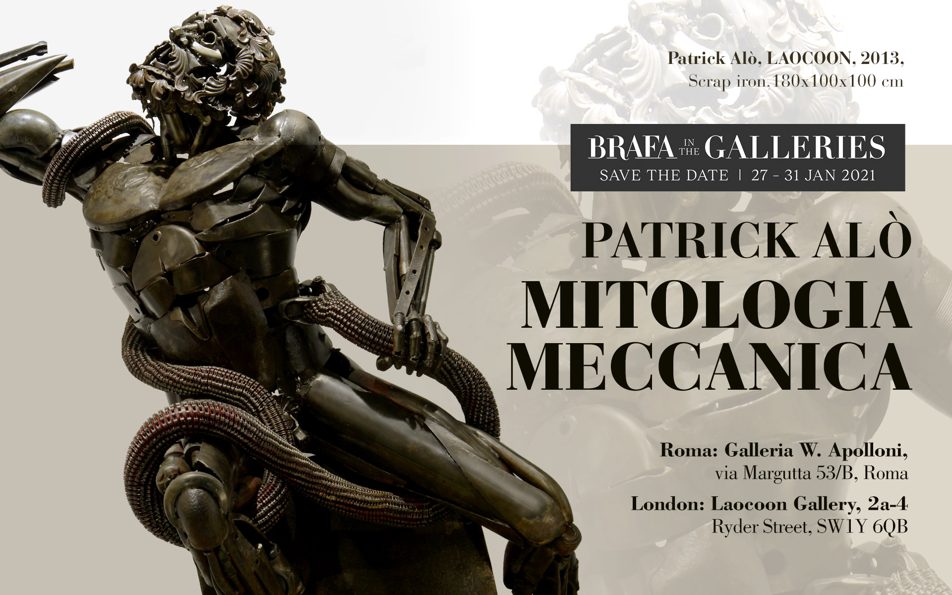 Patrick Alò, Mitologia Meccanica. BRAFA in the Galleries 2021